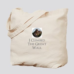 I Climbed The Great Wall Tote Bag