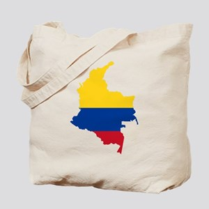 Colombia Civil Ensign Flag and Map Tote Bag