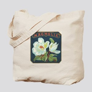 Magnolia antique label Tote Bag