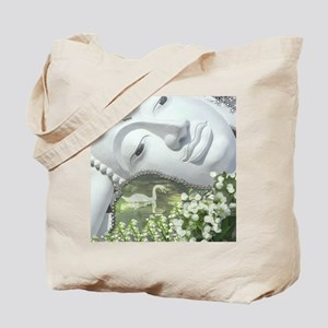 In the Garden - Quan Yin Flowers Tote Bag