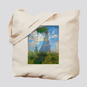 Woman with A Parasol by Claude Monet Tote Bag