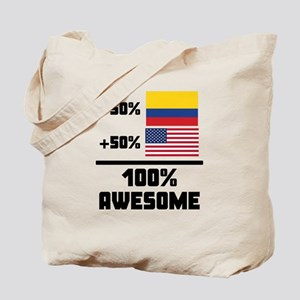 Awesome Colombian American Tote Bag