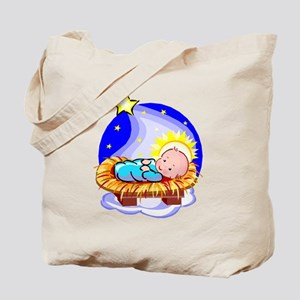Cute Baby Jesus And Star Tote Bag