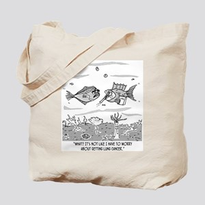 Fish Worries About Lung Cancer Tote Bag