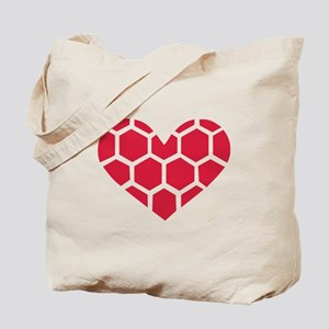 Red Handball heart Tote Bag