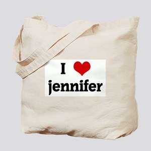 I Love jennifer Tote Bag