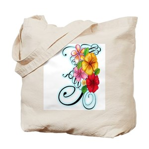 Hawaii Flowers Canvas Tote Bags Cafepress