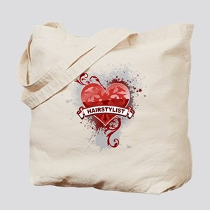 Heart Hairstylist Tote Bag