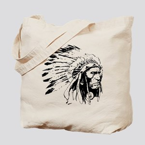 Native American Chieftain Tote Bag