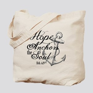 Hope Anchors the Soul Heb. 6:19 Tote Bag
