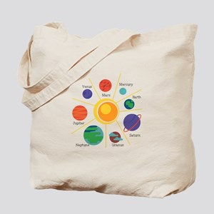 Planet Names Tote Bag