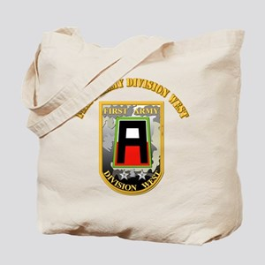 SSI - First Army Division West with Text Tote Bag