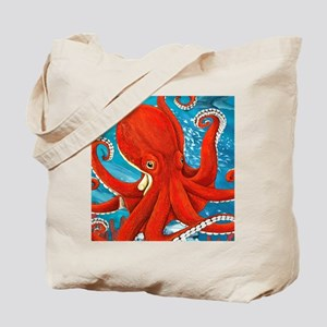 Octopus Painting Tote Bag