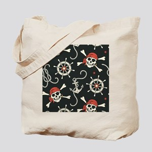 Pirate Skulls Tote Bag