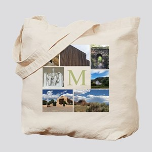 Photo Block and Monogram by LH Tote Bag