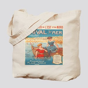 Vintage French Nautical Poster Tote Bag