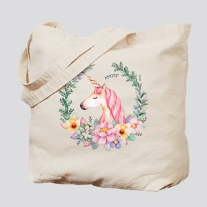 Pink Unicorn Tote Bag