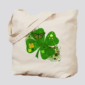 Fancy Irish 4 leaf Clover Tote Bag