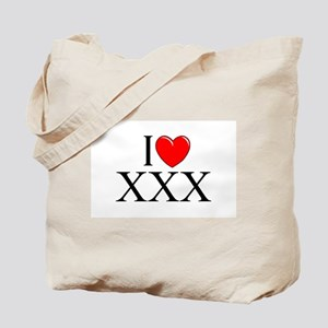 """I Love (Heart) XXX"" Tote Bag"