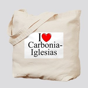 """I Love (Heart) Carbonia-Iglesias"" Tote Bag"
