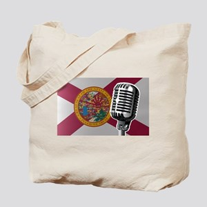 Florida Flag And Microphone Tote Bag