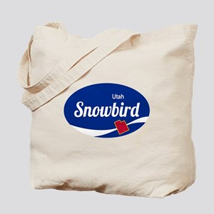 Snowbird Ski Resort Utah oval Tote Bag