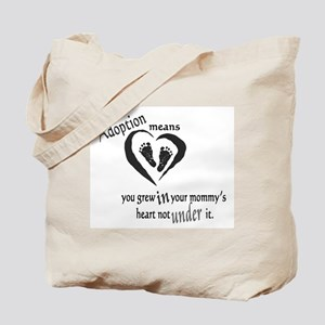 Born in mommy's heart Tote Bag