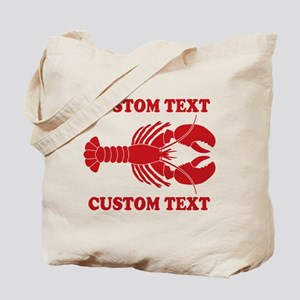 CUSTOM TEXT Lobster Tote Bag
