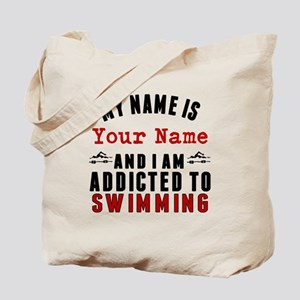 Addicted To Swimming Tote Bag