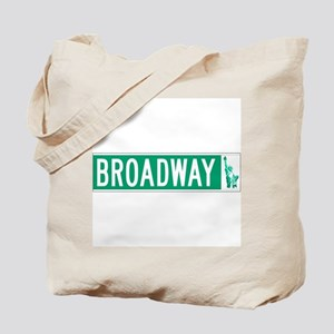 Broadway (with Statue of Liberty), NYC Tote Bag