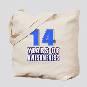 14 Years Of Awesomeness Tote Bag