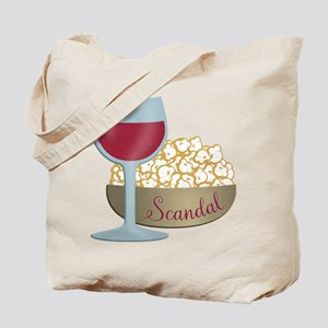 Scandal Red Wine Popcorn Tote Bag