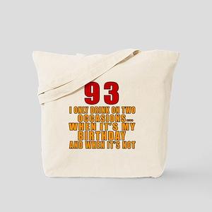 93 Birthday Designs Tote Bag