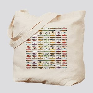 14 Trout and Salmon Pattern cp Tote Bag