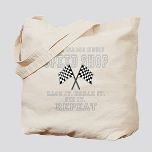 Racing Speed Shop Tote Bag