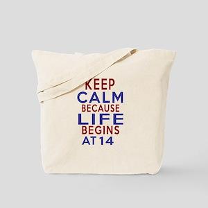 Life Begins At 14 Tote Bag