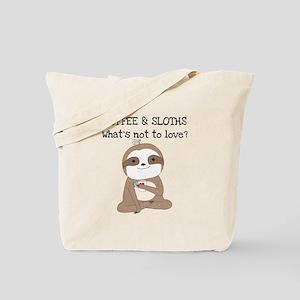 Coffee and Sloths Tote Bag