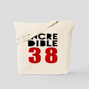 Incredibla 38 Birthday Tote Bag