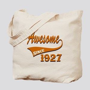 Awesome Since 1927 Birthday Designs Tote Bag
