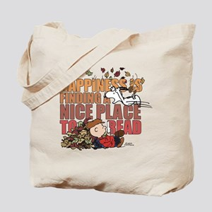 Peanuts Fall Reading Tote Bag