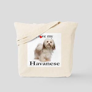 Love My Havanese Tote Bag
