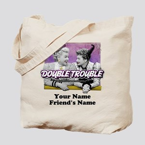 Double Trouble Personalized Tote Bag