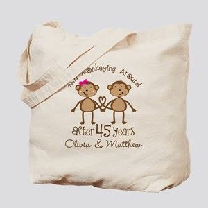 45th Wedding Anniversary Personalized Tote Bag