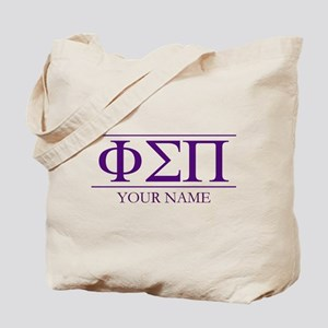 Phi Sigma Pi Letters Personalized Tote Bag