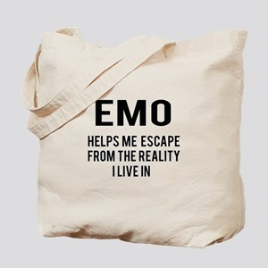 Emo Helps me escape from the reality Tote Bag