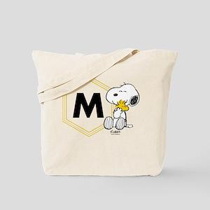 Snoopy Woodstock Monogrammed Tote Bag