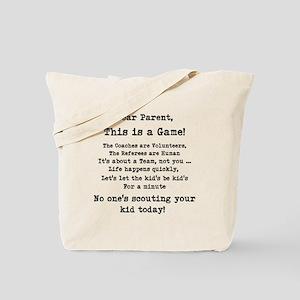 Dear Parents Tote Bag