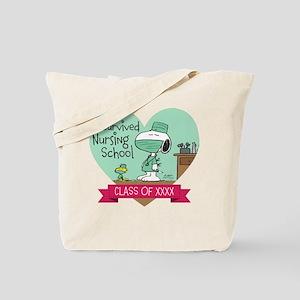 Snoopy Woodstock Nursing School Tote Bag