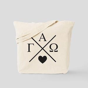 Gamma Alpha Omega Cross Tote Bag