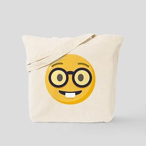 Nerd-face Emoji Tote Bag